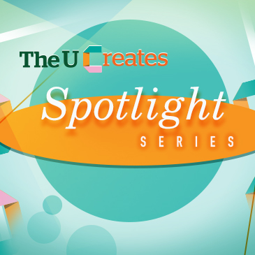 The U Creates Spotlight Series branding