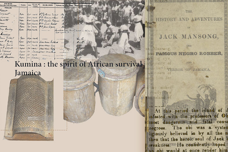 Library Research Scholars Program collage on Obeah
