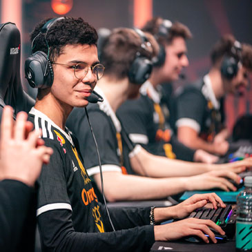 A gamer competes in an esports tournament. Photo: Riot Games/League of Legends