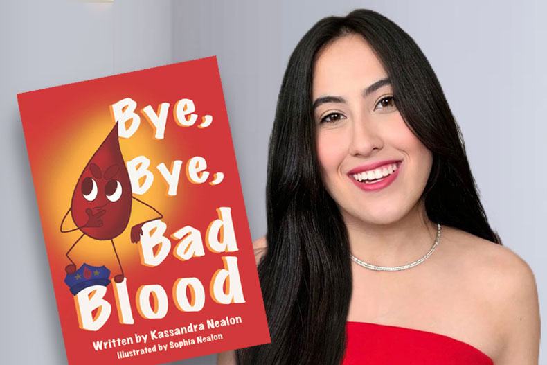 "University of Miami student Sophia Nealon illustrated the book ""Bye, Bye, Bad Blood."""