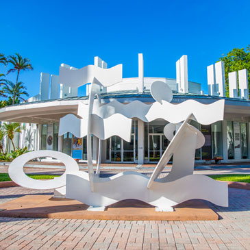 Exterior of the Lowe Art Museum on the Coral Gables Campus