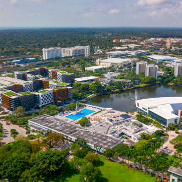The Coral Gables campus from above. TJ Lievonen/University of Miami