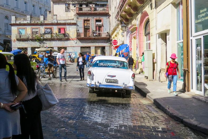A classic car on a Havana street. Photo: University Communications file photo