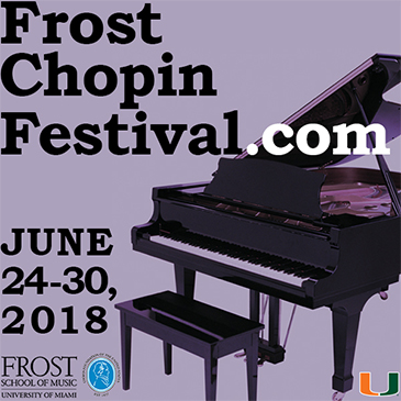 Frost School Partners with Chopin Foundation to Present Frost Chopin Academy and Festival