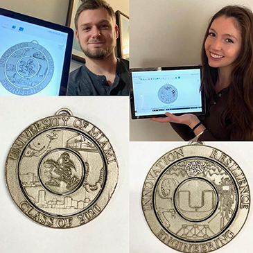 Engineering Students Design Medals for 2020 Commencement Ceremony
