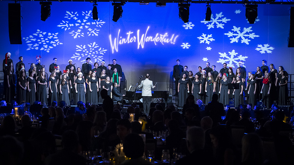 A choir performs at Winter Wonderful!