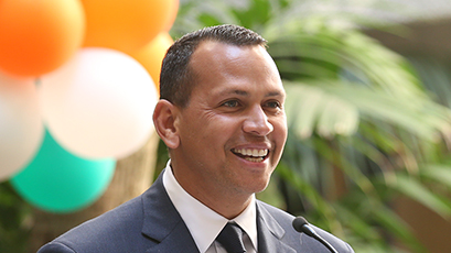 Alex Rodriguez Courtyard Dedicated, Honoring All-Star's $500,000 Donation