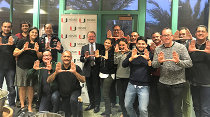 Dean Quelch meets the Miami Global EMBA graduating Class of 2017