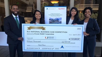 MBS Team Takes 3rd Place in ELC's 2019 National Business Case Competition