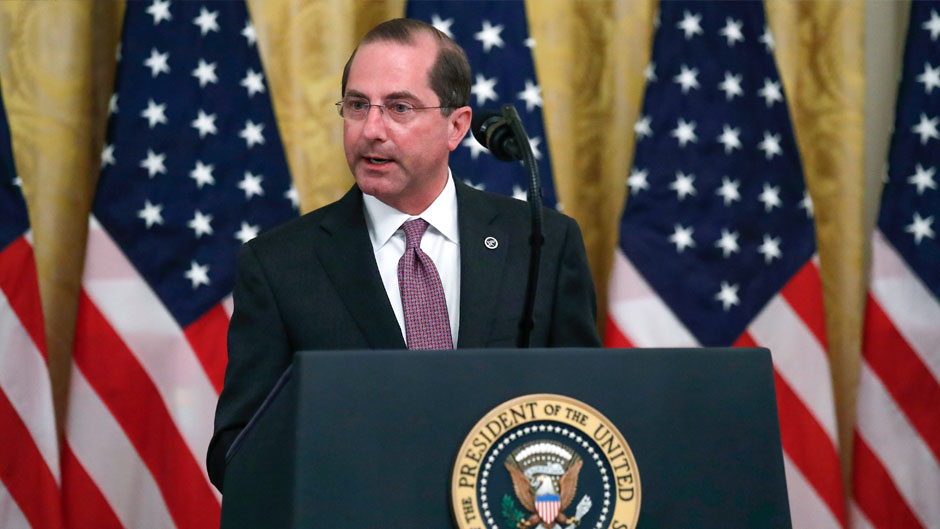 U.S. health secretary discusses system reforms during a pandemic