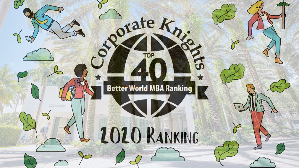 Miami Herbert Business School Ranked No. 7 in the U.S. by Corporate Knights Better World MBA Ranking